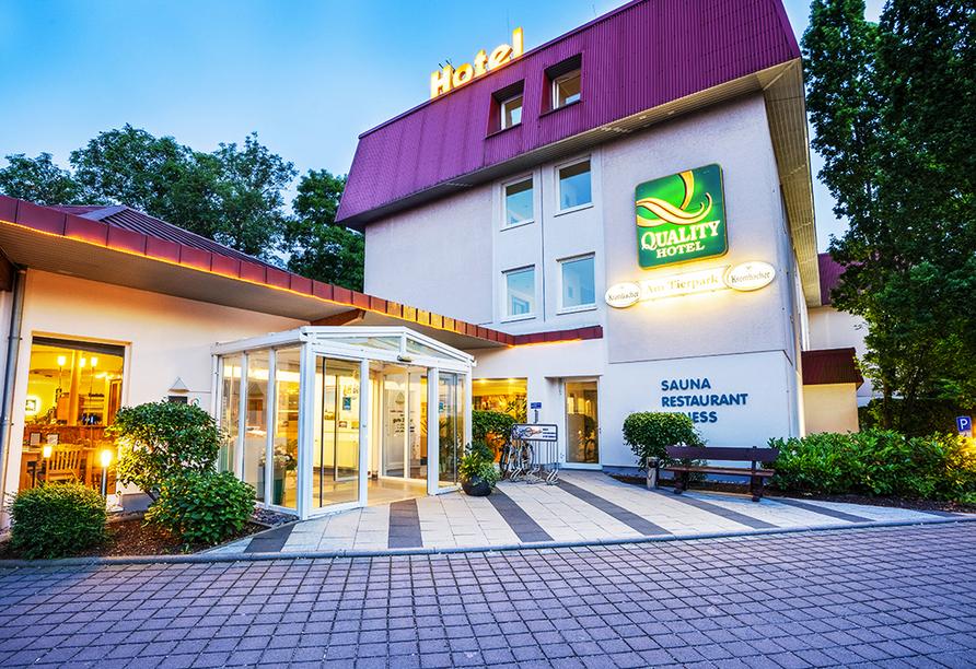 Quality Hotel am Tierpark, Außenansicht des Hotels