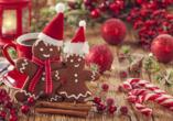 MS VIVA INSPIRE ab/an Frankfurt, Weihnachtliche Leckereien