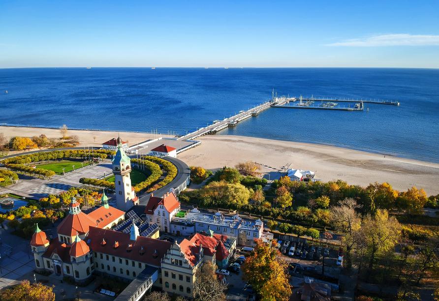 Das authentische Polen erleben Sie auch in Sopot mit dem längsten Pier an der Ostsee.