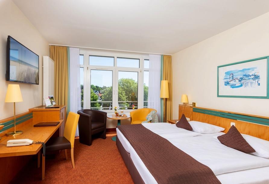 Parkhotel Rügen Bergen, Beispiel Doppelzimmer