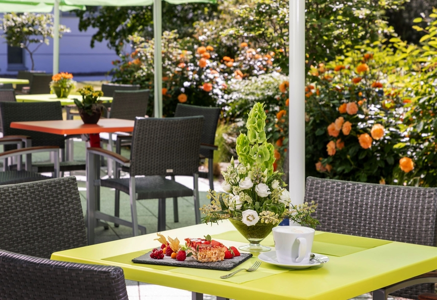 Parkhotel Rügen in Bergen, Terrasse