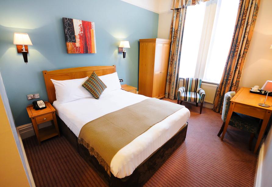 Beispiel eines Doppelzimmers im Durley Dean Hotel