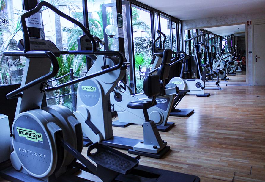 Hotel Lungomare in Marina d'Andora, Fitnessraum