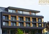 Außenansicht des Boutique Hotels Moselgarten (Neueröffnung Ende Mai 2021)