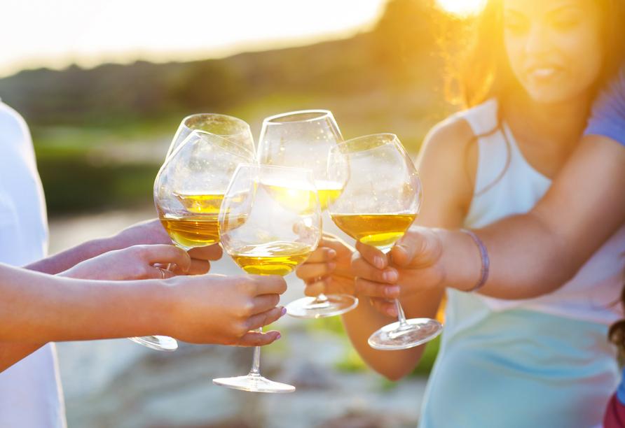 In der Region Sanremo kommen Sie in den Genuss einer Weinprobe.
