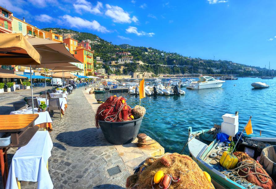 Die wunderschöne Côte d'Azur wird Sie begeistern.