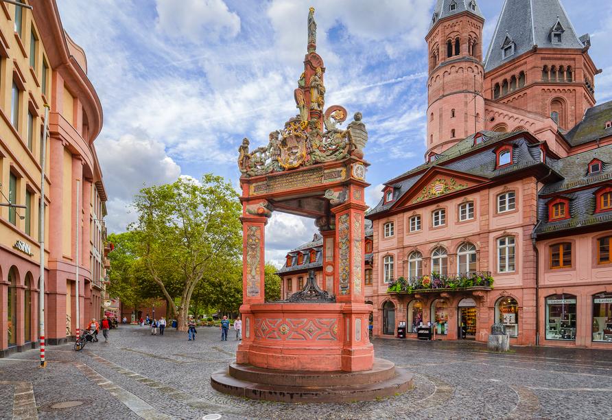 Radrundreise Rheinradweg, Mainz