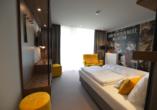 Beispiel eines Doppelzimmers Comfort Plus mit Loggia im Boutique Hotel Moselgarten