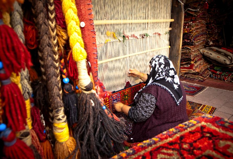 Das Teppichknüpfen ist die älteste Handwerkskunst Anatoliens.