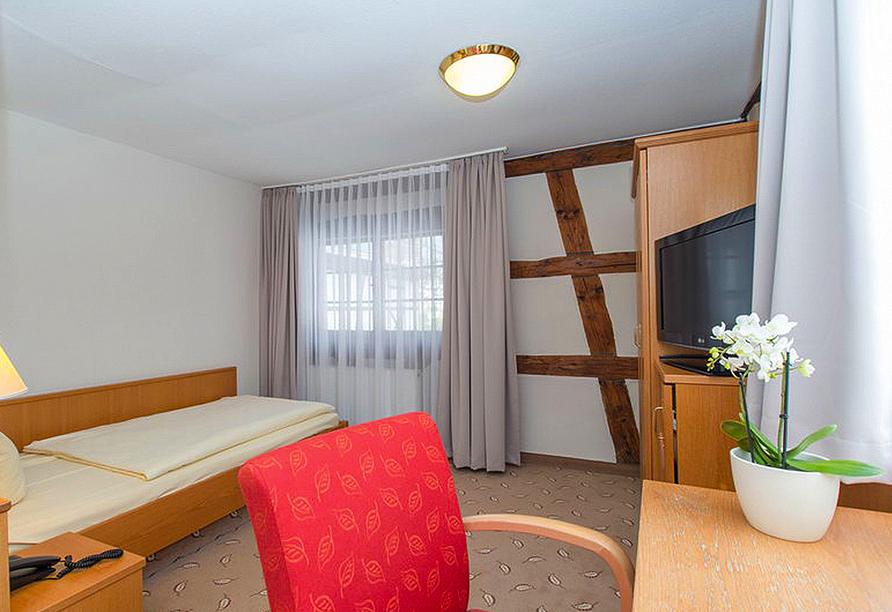 Beispiel eines Einzelzimmers Landseite im Hotel Hoeri am Bodensee in Gaienhofen