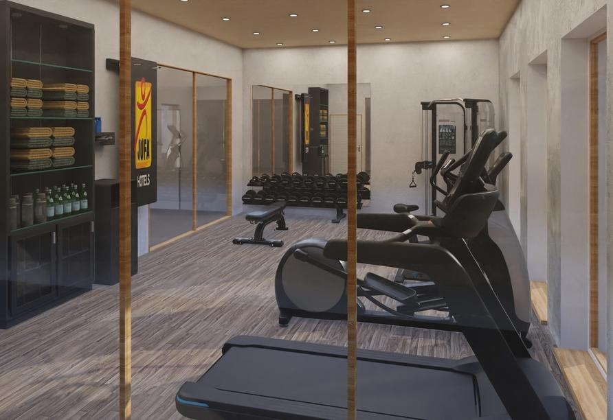 JUFA Hotel Savognin, Modellbild Fitnessraum