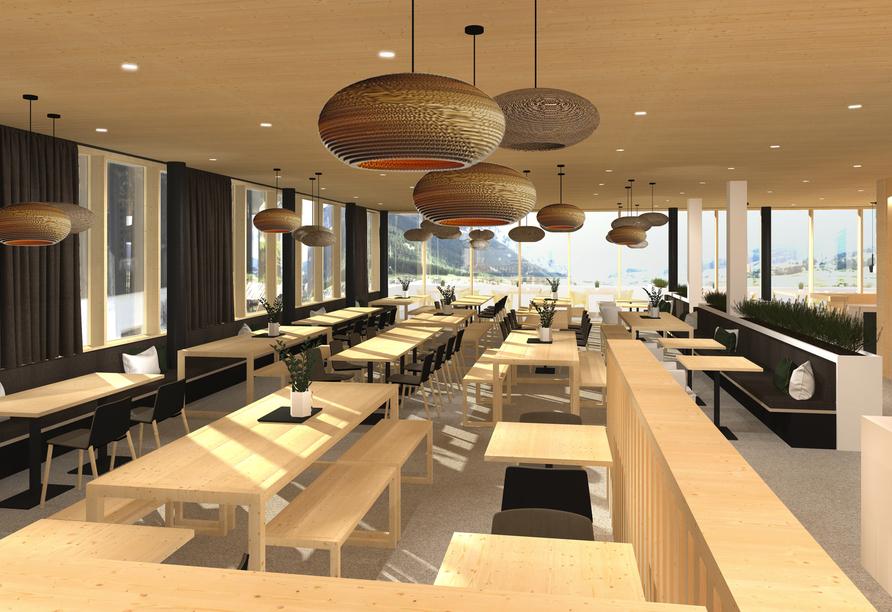 JUFA Hotel Savognin, Modellbild Restaurant