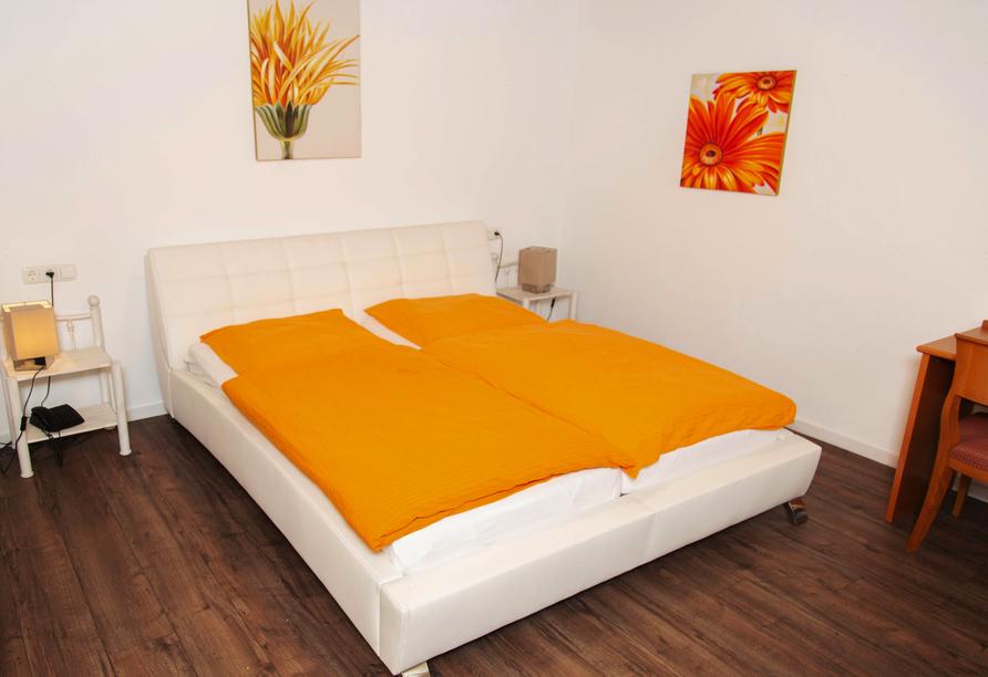 Beispiel eines Doppelzimmers im Hotel Willmeroth Hofbräu