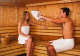 Gönnen Sie sich zwischendurch eine kleine Auszeit in der hoteleigenen Sauna.