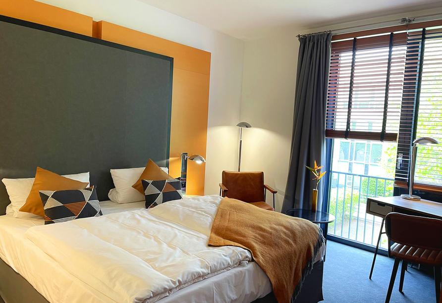 Beispiel eines Doppelzimmers im Precise House Düsseldorf Airport