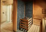 Genießen Sie wohltuende Wellnessmomente in der Sauna.