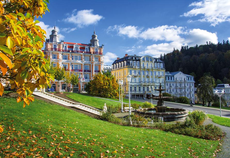 Die Schönheit Marienbads hat bereits zahlreiche berühmte Persönlichkeiten wie Johann Wolfgang von Goethe angelockt.