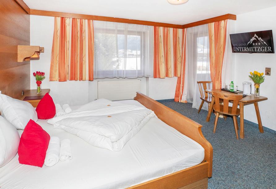 Beispiel eines Doppelzimmers im Hotel Untermetzger
