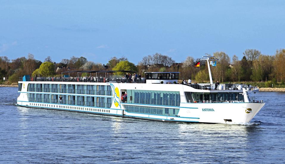 MS Antonia ab/bis Köln, Außenansicht