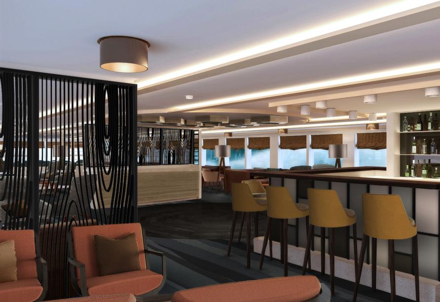 MS Antonia ab/bis Köln, Lounge