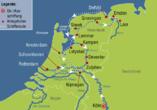 MS Rhein Prinzessin, Reiseroute