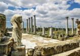 Der Norden Zyperns und seine unberührte Natur, Ruinenstadt von Salamis in Famagusta