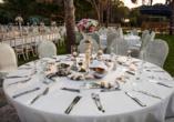 Der Norden Zyperns und seine unberührte Natur, Außenbereich im Beispielhotel Salamis Bay Conti Hotel