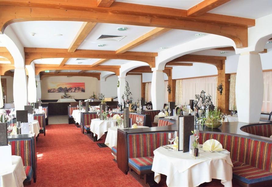 Freuen Sie sich auf genussvolle Momente im hoteleigenen Restaurant.