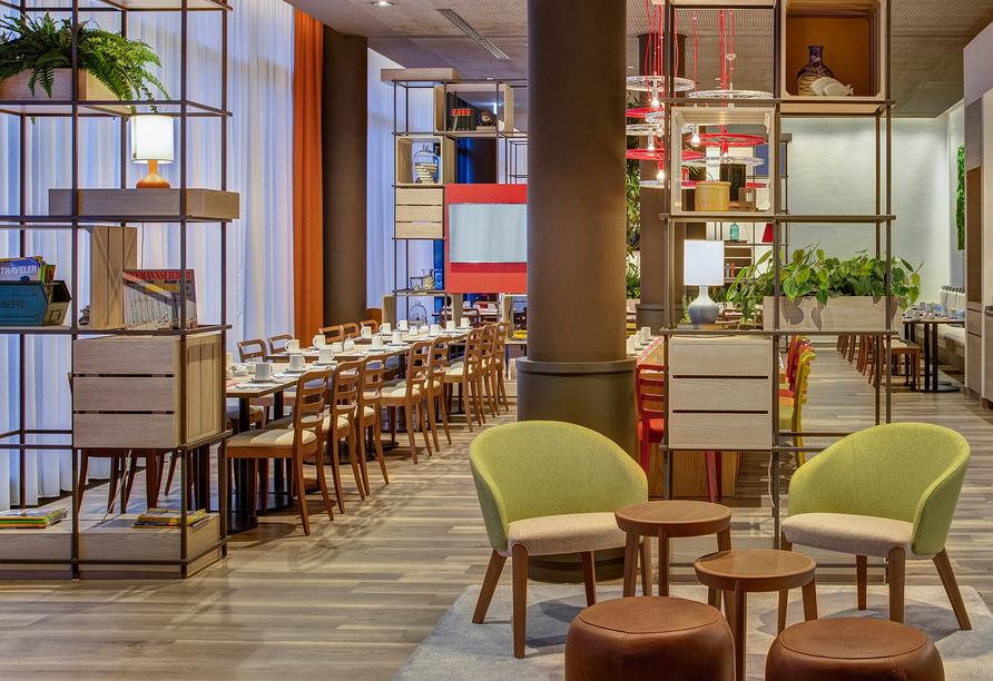 Machen Sie es sich im Restaurant des IntercityHotels Graz gemütlich.