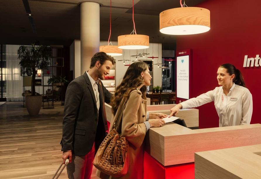 Das freundliche Personal des IntercityHotels Graz ist stets für Sie da.