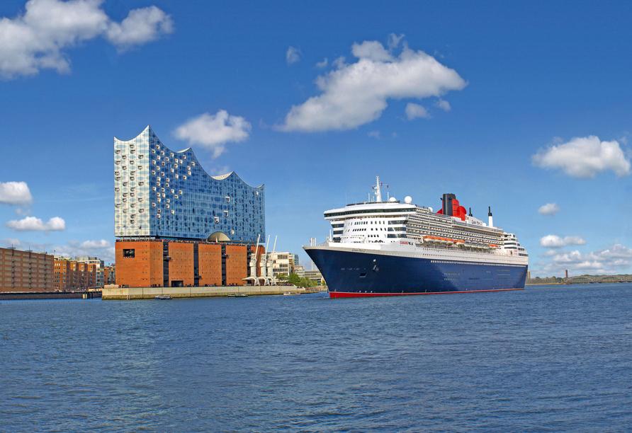 Queen Mary 2, Außenansicht