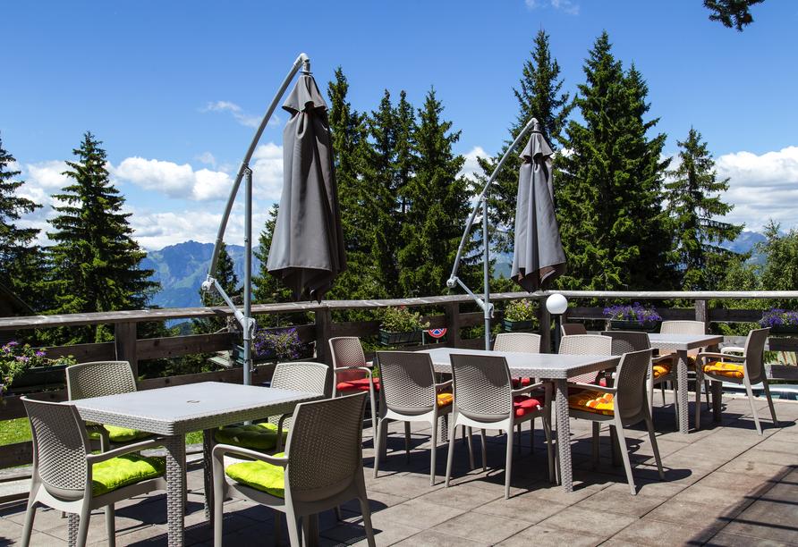 Hotel Alpine Mugon, Italien, Terrasse