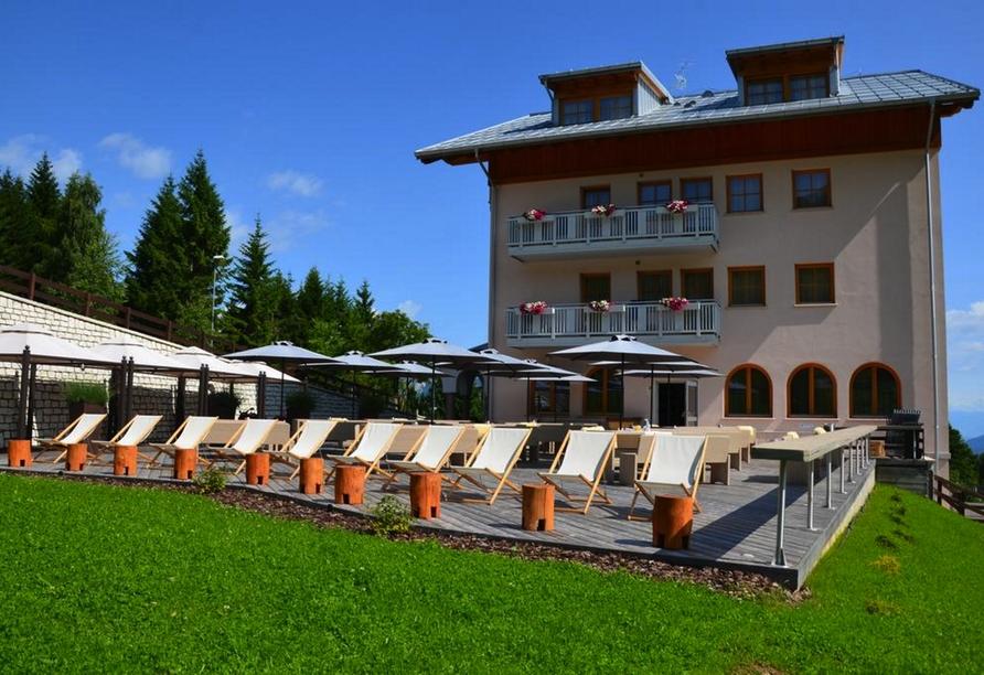 Hotel Norge in Trient, Außenansicht Hotel