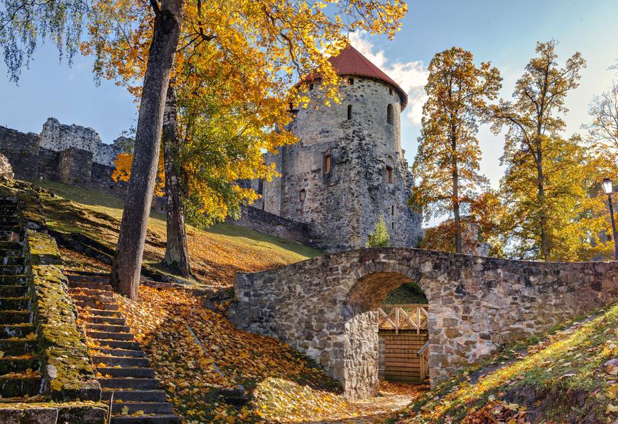 Auch das mittelalterliche Cesis befindet sich am Fluss Gauja.