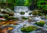 Sie finden den Wilden Wasserfall am Fluss Lomnitz am Fuße des Riesengebirges.