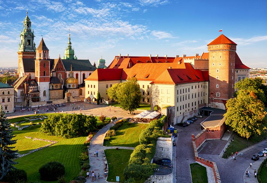Hier regierten Polens Könige: Die Burg Wawel.