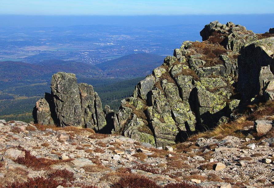 Das Riesengebirge bietet viele wunderschöne Aussichtspunkte.