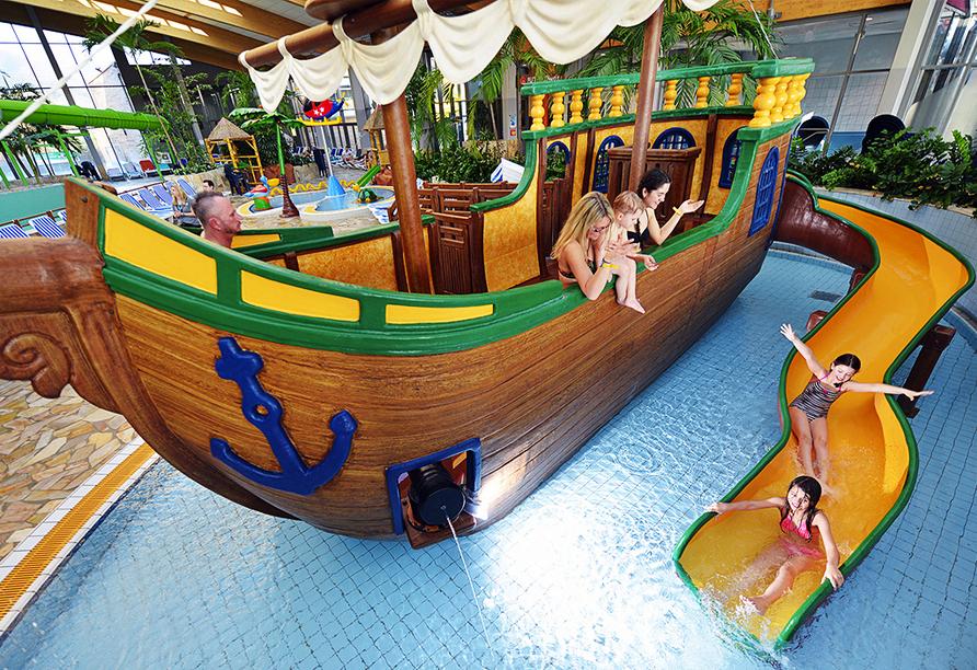 Das Piratenschiff bietet Spielspaß pur!