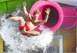 Für jede Altersgruppe ist im AquaMaris Wasser- und Rutschenpark etwas dabei!