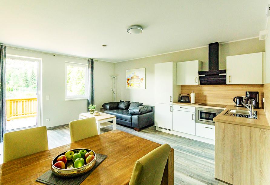Beispiel eines Wohnbereichs im Appartement