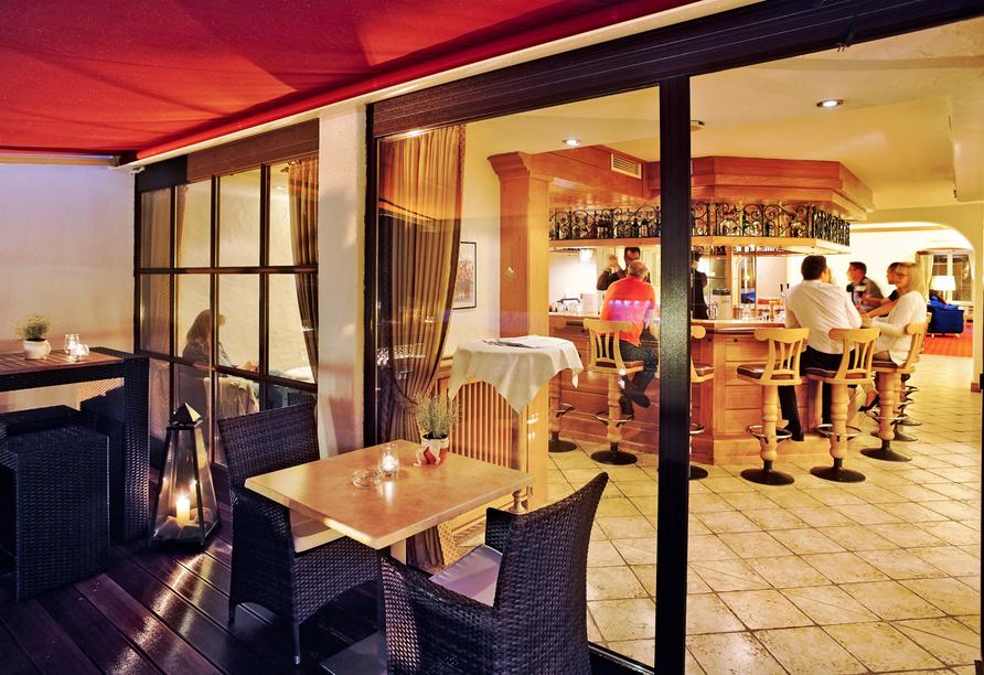 Mühl Vital Resort, Terrasse mit Bar