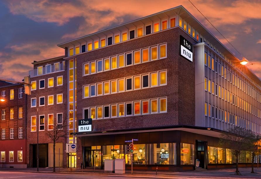 Hotel the niu Welly Kiel, Außenansicht