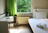 Beispiel eines Einzelzimmers Bestprice im Hotel Rheinsteig Quartier
