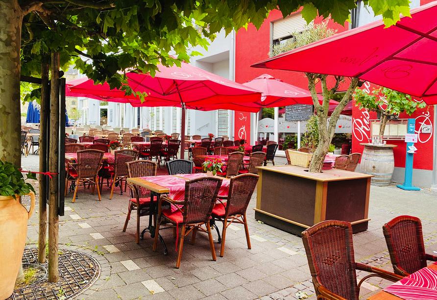 Außenbereich des Ristorante Di Vino in Bendorf