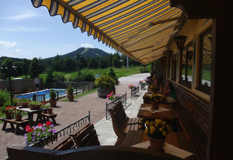 Ferienhotel Knollhof in Ramsau, Terrasse