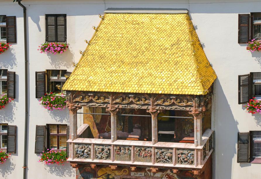 Hotel Taxacher in Kirchberg, Tirol, Österreich, Goldene Dachl