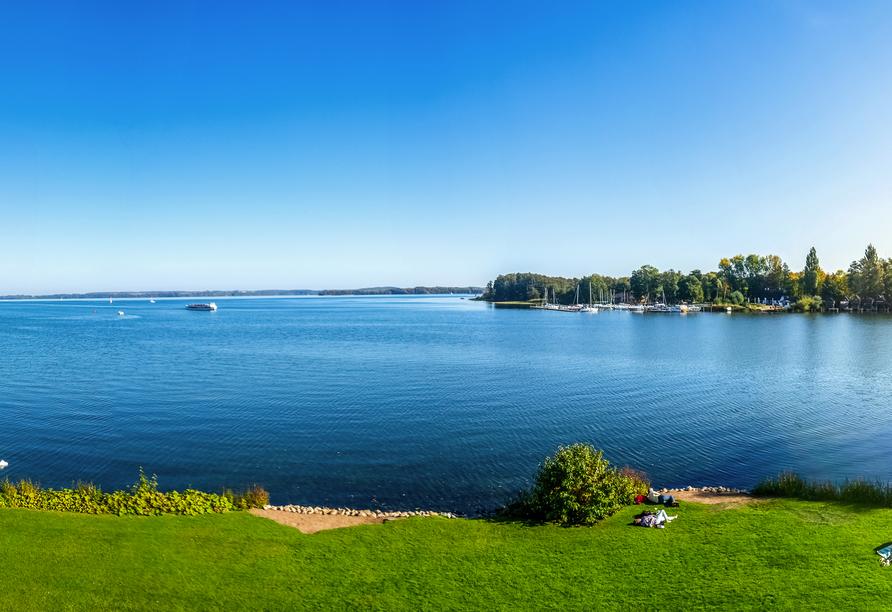 Der Schweriner See bietet eine große Artenvielfalt und ist beliebt bei Wassersportlern.