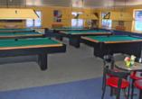 Das Freizeitdorf Mecklenburg gehört zum Casilino Hotel A20 Wismar und bietet Ihnen ein Billiardcenter mit Darts und einer Sky-Sportsbar.