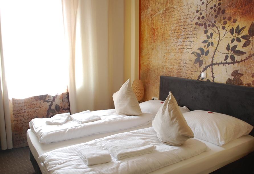 Beispiel eines Doppelzimmers im Casilino Hotel A20 Wismar