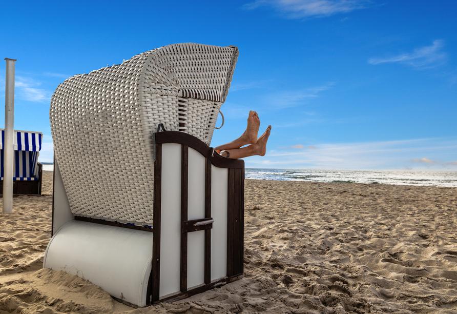 Erholen Sie sich am Strand der Ostsee.